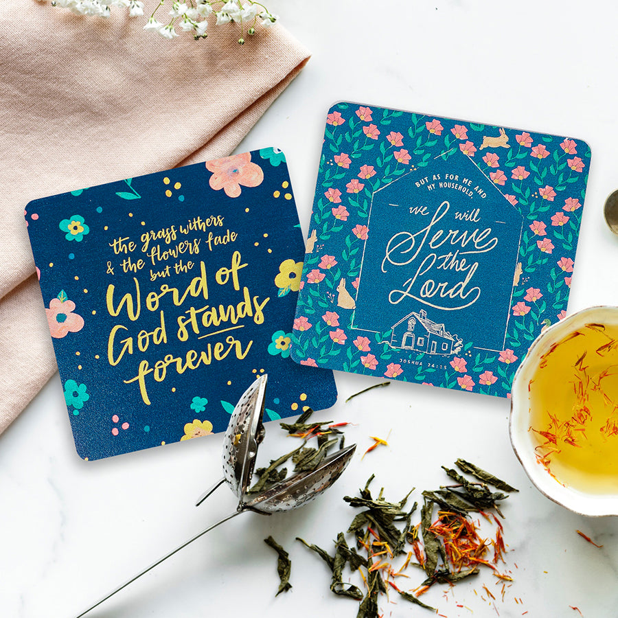 Flower garden coasters will help you relax and recharge from a tiring day.