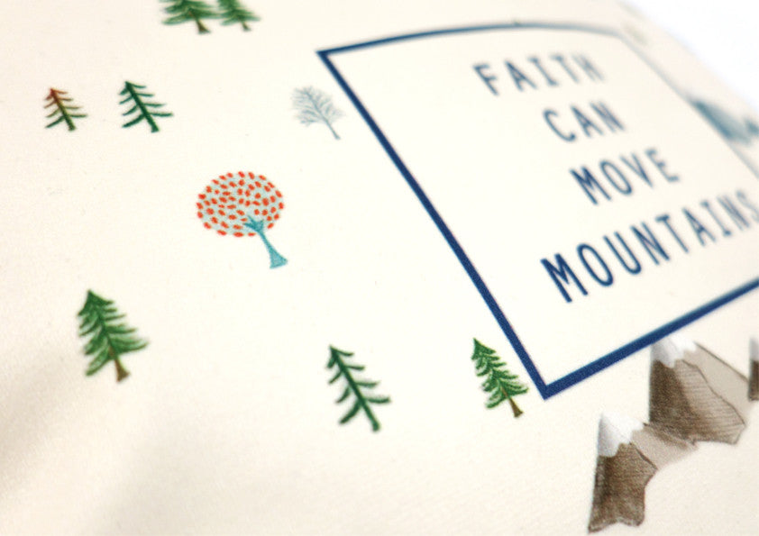 faith can move mountains soft velvet cushion cover by heynewday x the commandment co