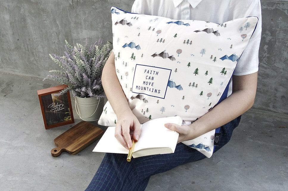 faith can move mountain cushion cover by heynewday x the commandment co