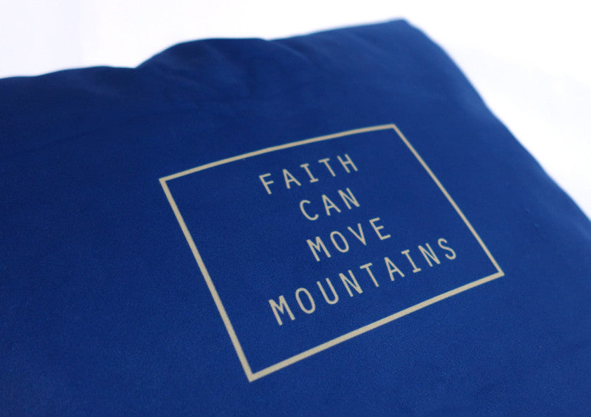 faith can move mountain cushion cover by Hey New Day x the commandment co