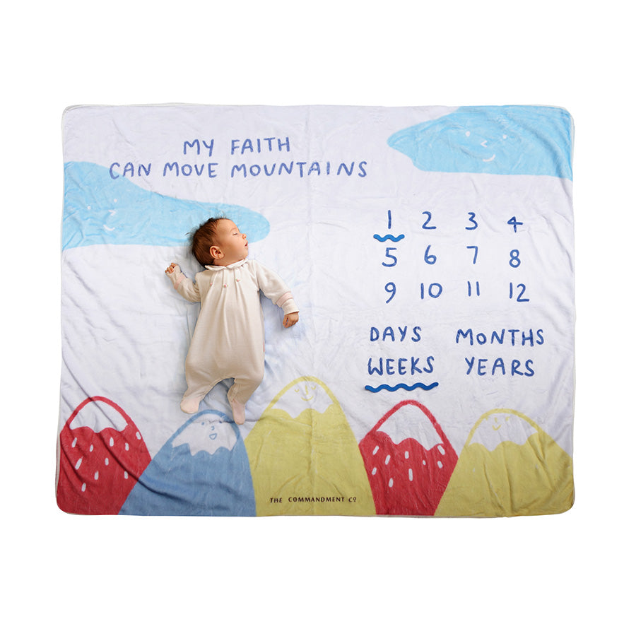 Faith Can Move Mountains Baby Photography Play Mat