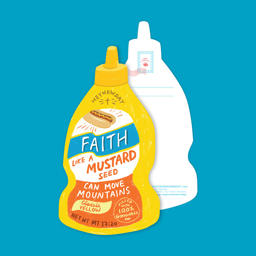 Faith Mustard Sauce {LOVE SUPERMARKET Card}
