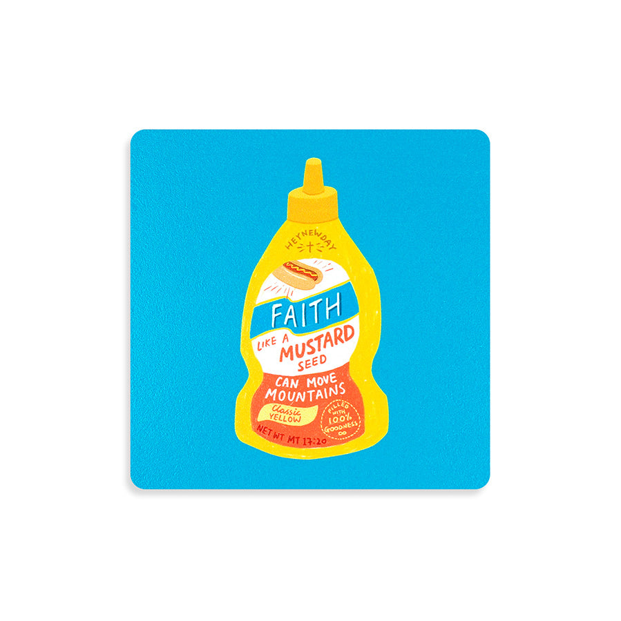 Faith Mustard Sauce | Coasters {LOVE SUPERMARKET}