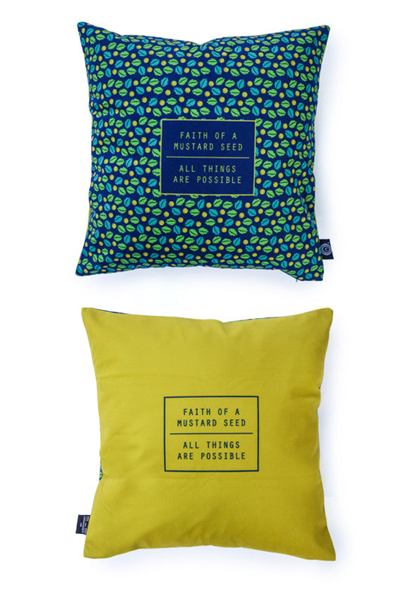 heynewday mustard seed all things possible velvet cushion cover