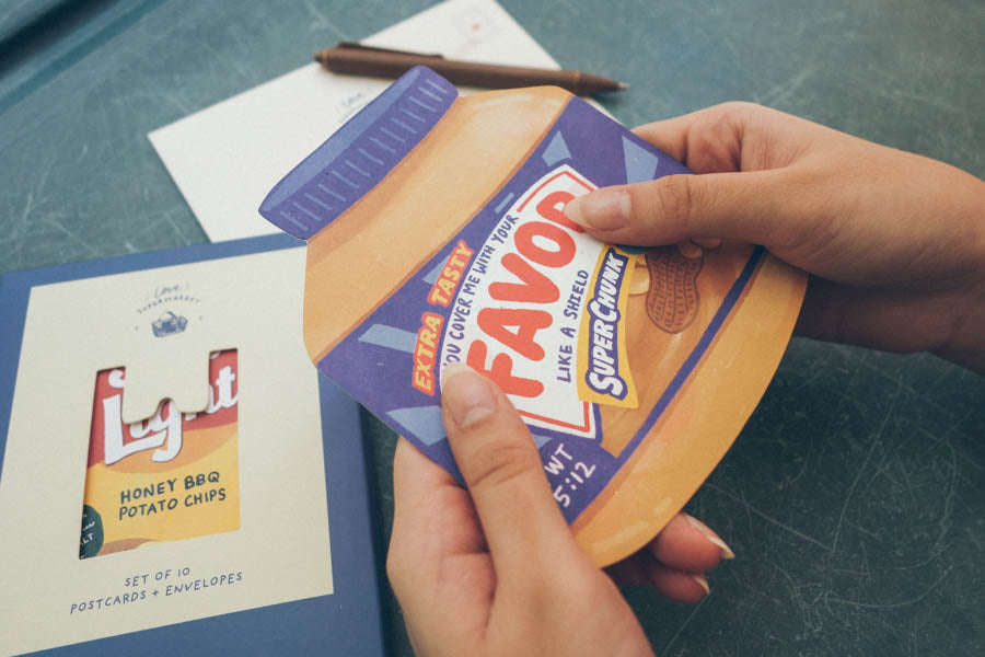 Favor Peanut Butter {LOVE SUPERMARKET Card}