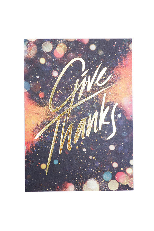 Give thanks greeting card. Greeting card of appreciation.