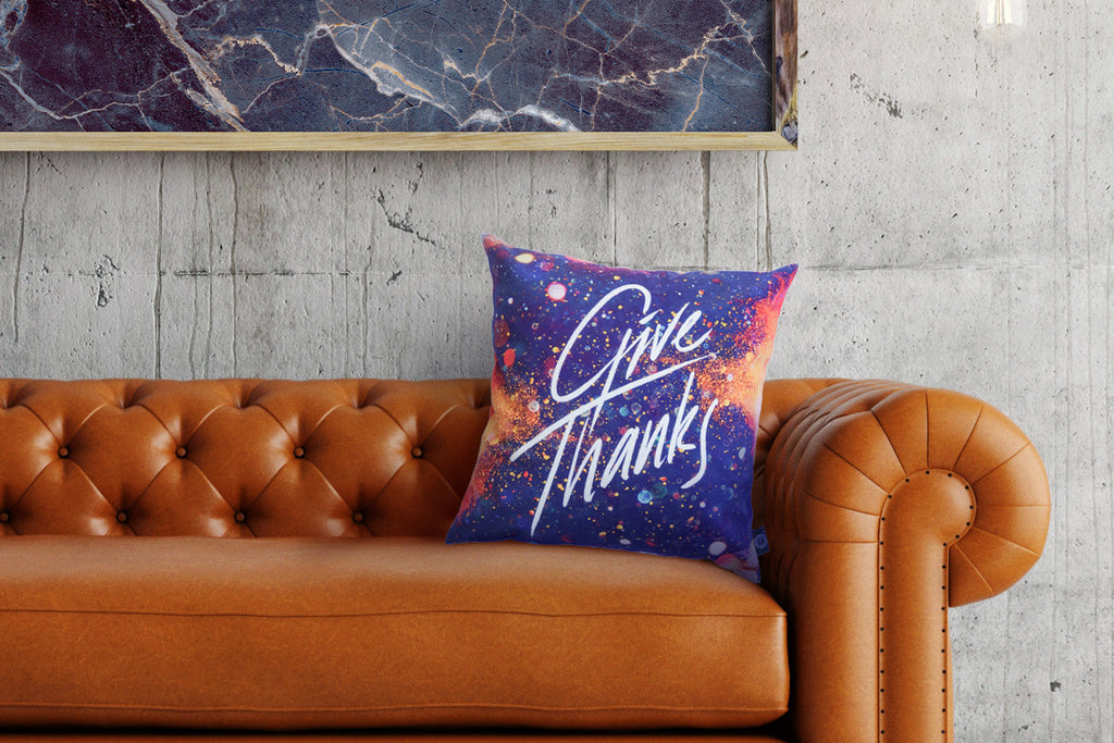 Give Thanks {Cushion Cover}