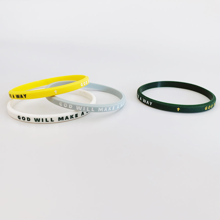 Christian God will make a way rubber wristband set