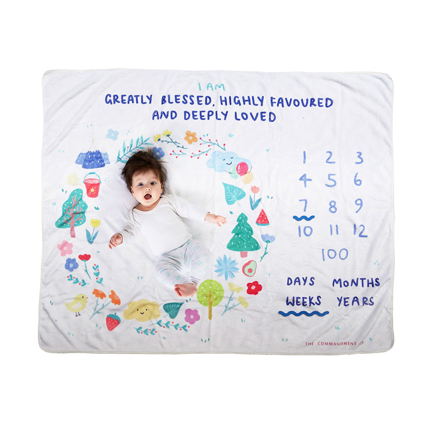 Greatly Blessed Highly Favoured | Baby Photography Blanket