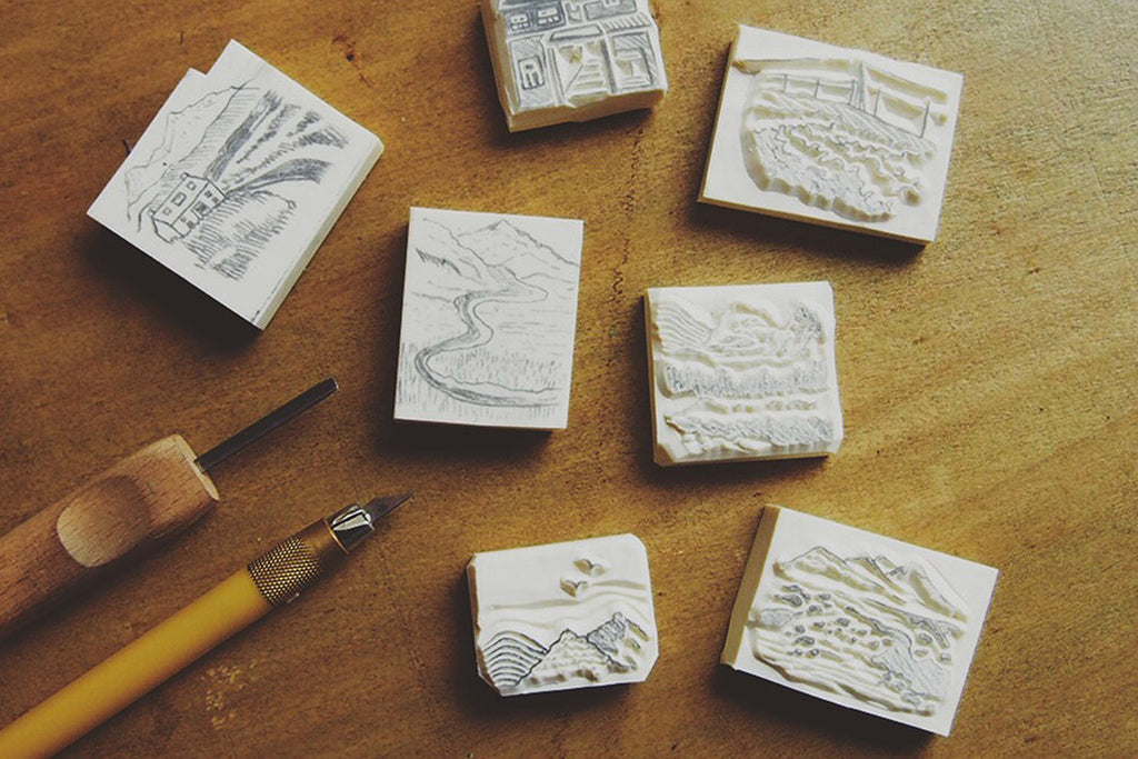 DIY rubberstamping local workshop by droolstamps