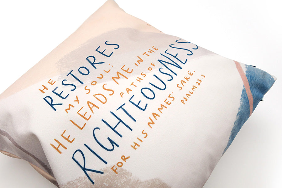 He Restores My Soul {Cushion Cover}