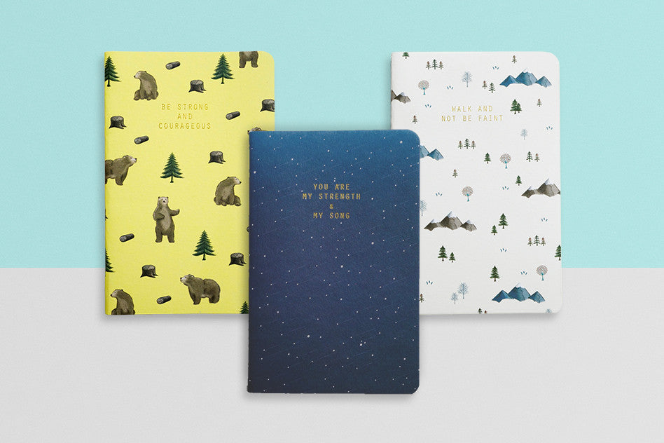 hey new day courage series pocket notebooks. Pocket notebooks inspiring courage. Great gifts for school, for planning life.