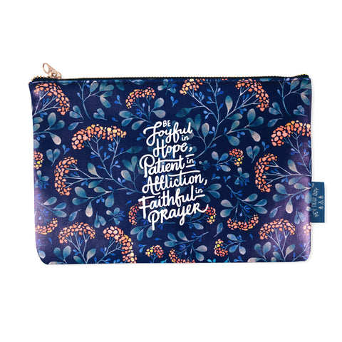 Joyful Patient Faithful {Pouch}