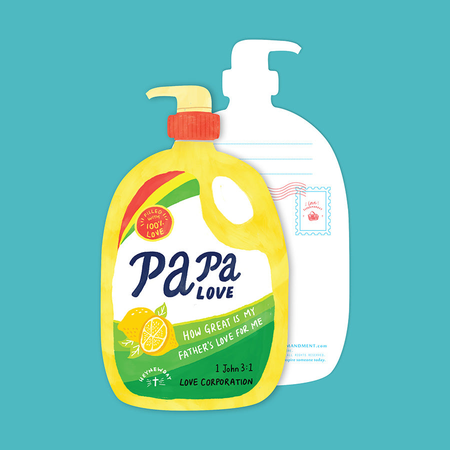 Papa Love Soap {LOVE SUPERMARKET Card}