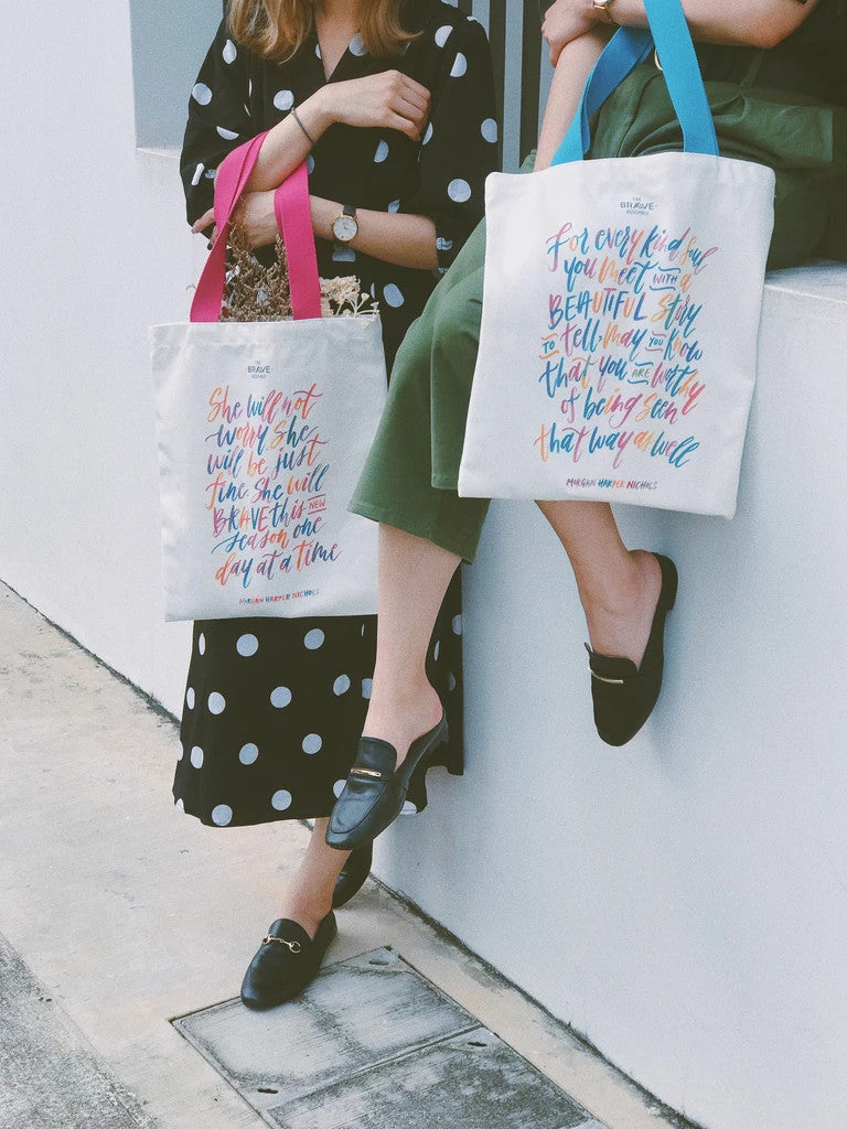 The totebag is stylish and carries meaningful messages which are sure to bring colourful inspiration to any girl's lives.
