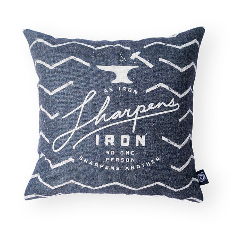 Everyone love cushion covers! They can easily comfort you with its soft feel and comfort messages and then all is well in the world. Features bible verse' As iron sharpens iron, so one person sharpens another'. Premium 45cmx45cm gray pillow cover made of cotton linen. With hidden zip feature.