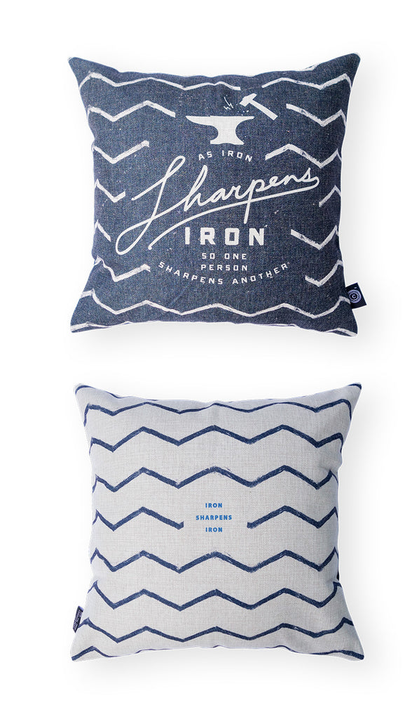 Iron Sharpens Iron {Cushion Cover}