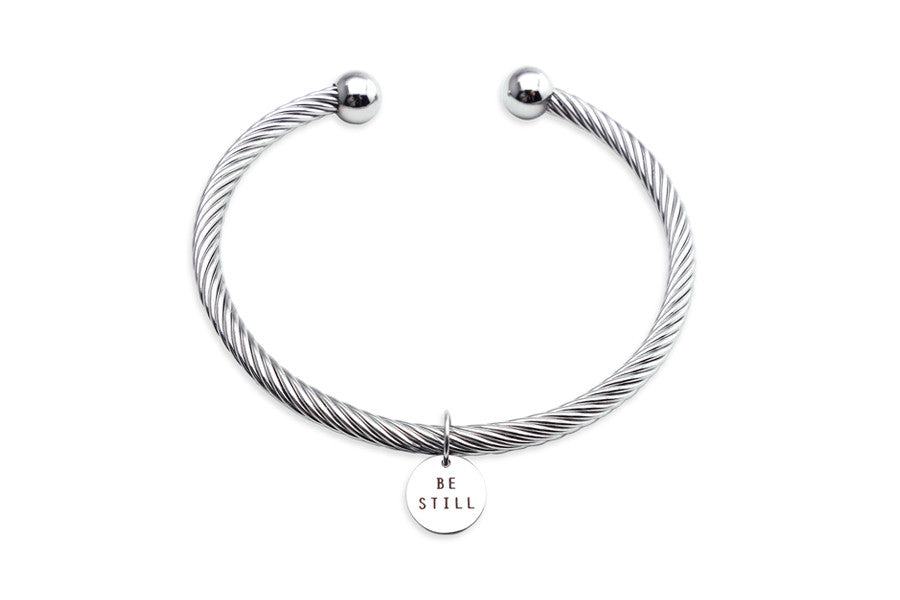 Rope Bracelet Be Still Circle Shaped Pendant Gifts That Inspire Encourage Edify
