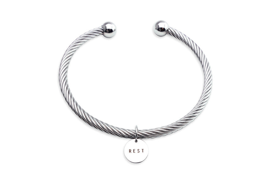 Rope Bracelet Rest Circle Shaped Pendant Daily Reminders And Encouragements For Yourself