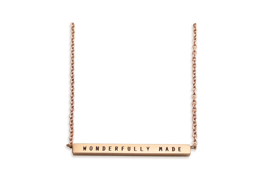 Bar Pendant Necklace Fearfully & Wonderfully Made Costume Jewellery Great Gifts Customisable