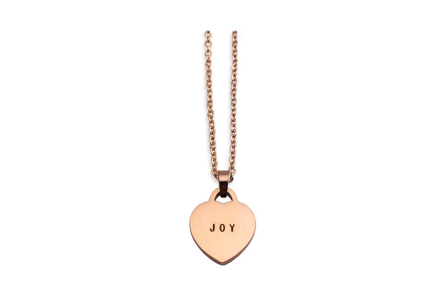 Heart Shaped Pendant Joy Singapore Based Costume Jewellery