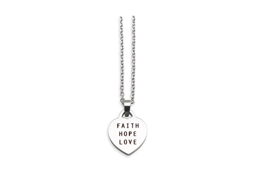 Heart Shaped Pendant Faith Hope Love Singapore Based Costume Jewellery Great Gifts for Loved Ones And Friends