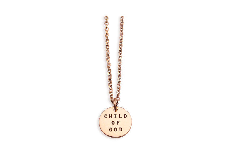 Circle Pendant Necklace Child of God Great Gift Ideas Christian Gifts Singapore Based