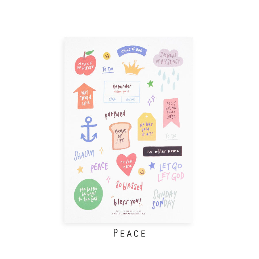 Peace | Journaling Sticker Sheet