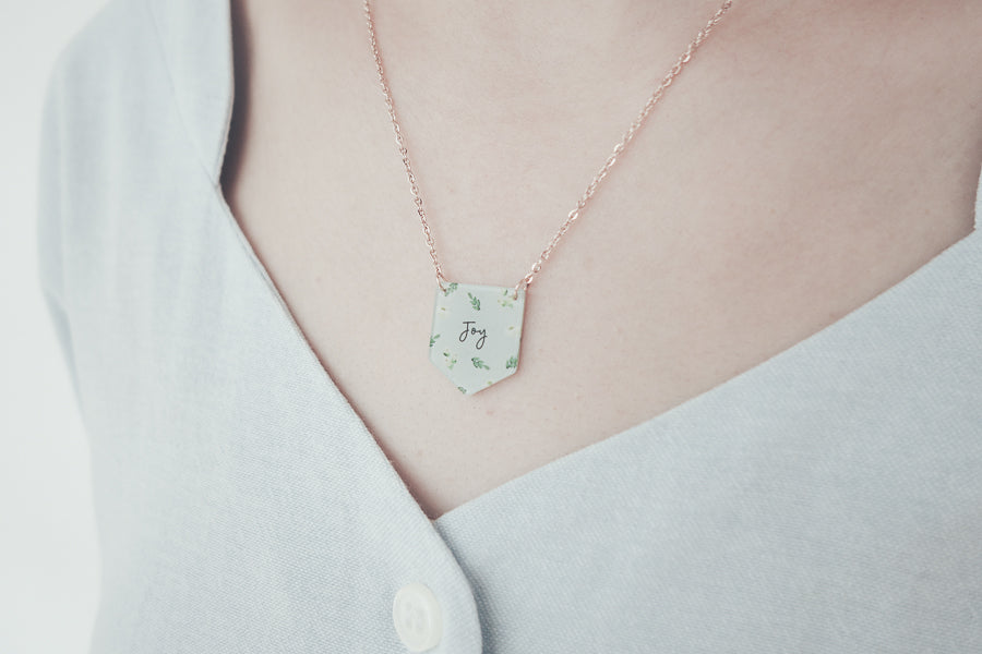 Joy necklace to reminds us that the joy of the Lord is our strength
