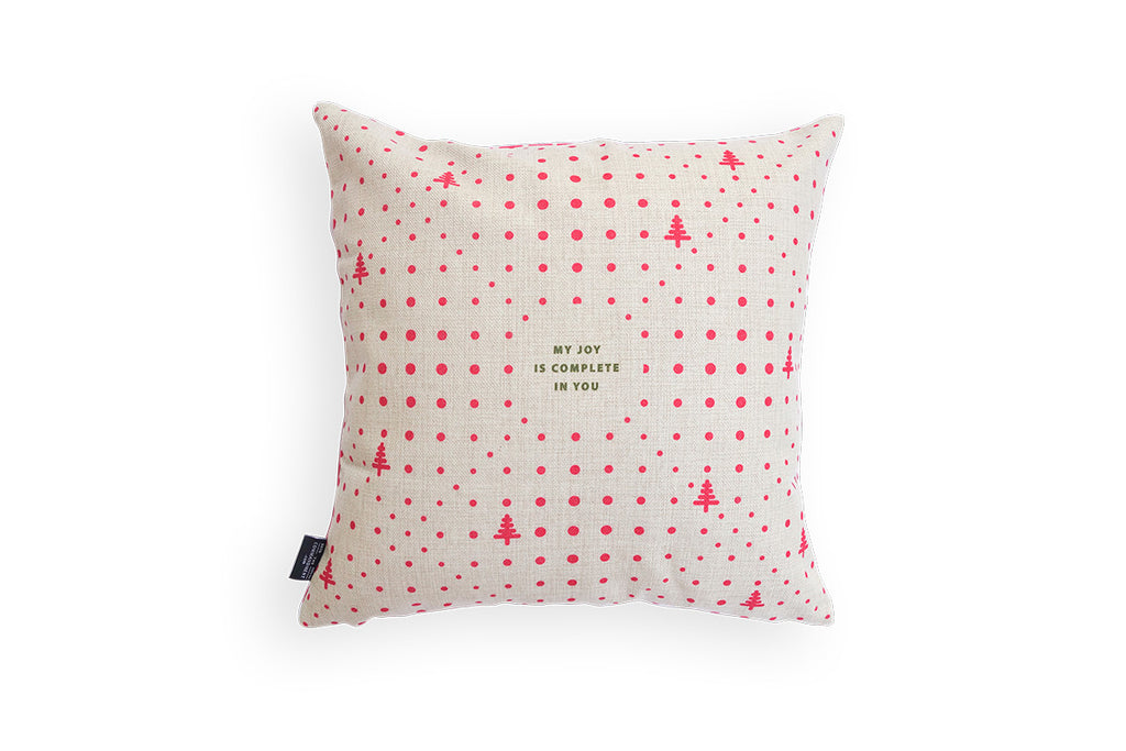 the back design features cream background with pink polkadots details