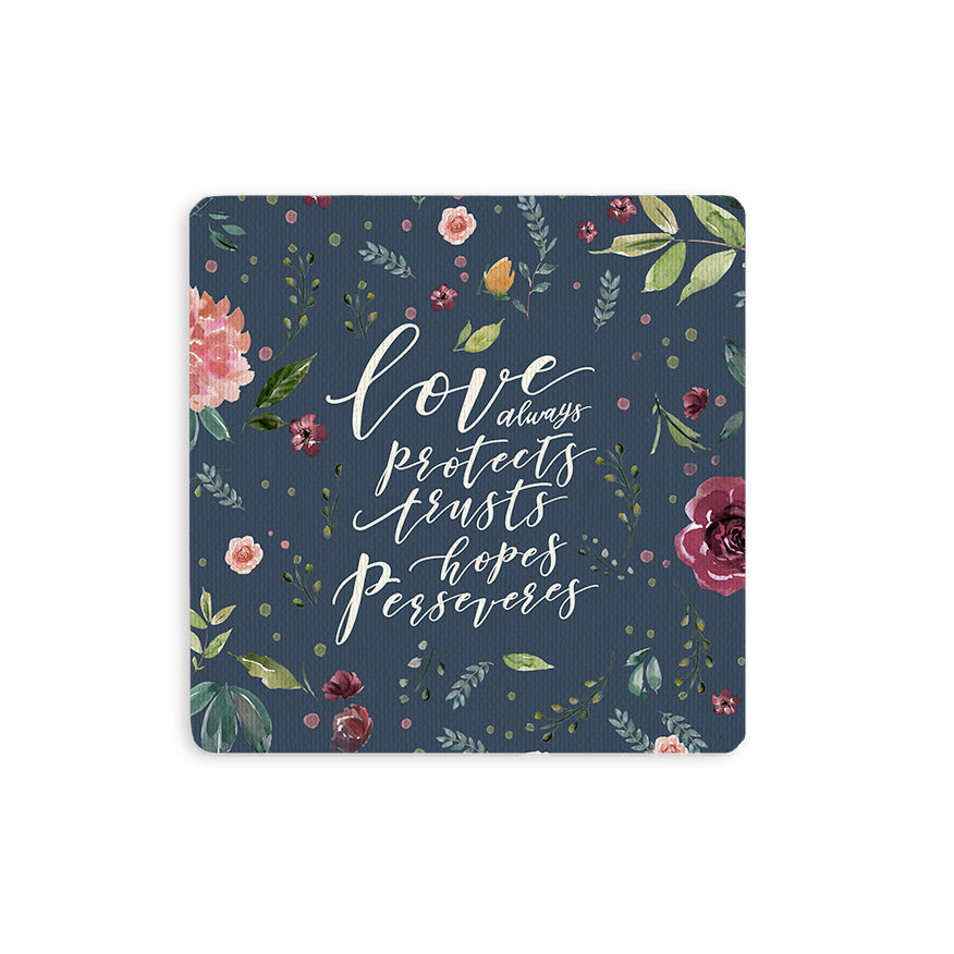 Love Always Protects {Coasters}