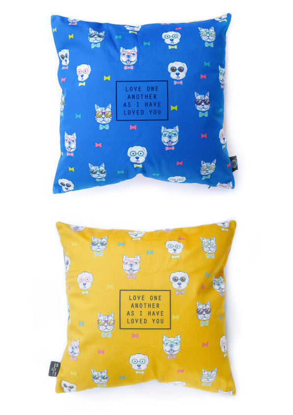 love each other cushion cover by Hey New Day x the commandment co