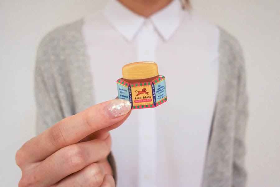 Lion Balm {LOVE SUPERMARKET Pins}