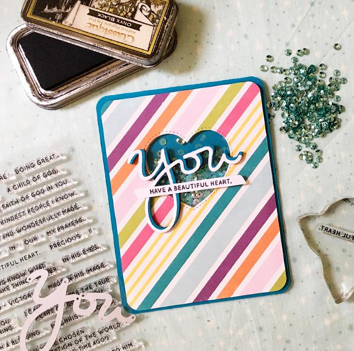 DIY Cards made by stamping the word 'YOU'