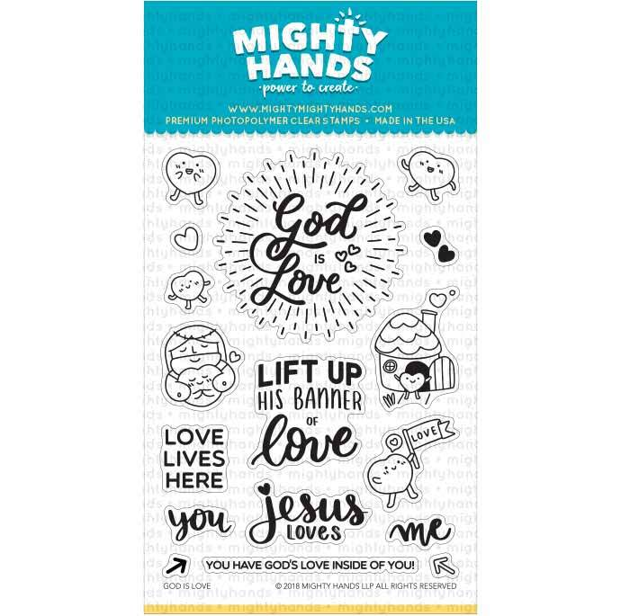 God is good photopolymer clear stamp set. Includes 7 large sentiments and 10 images. Arts and Craft ideas. DIY birthday card and bookmark ideas.