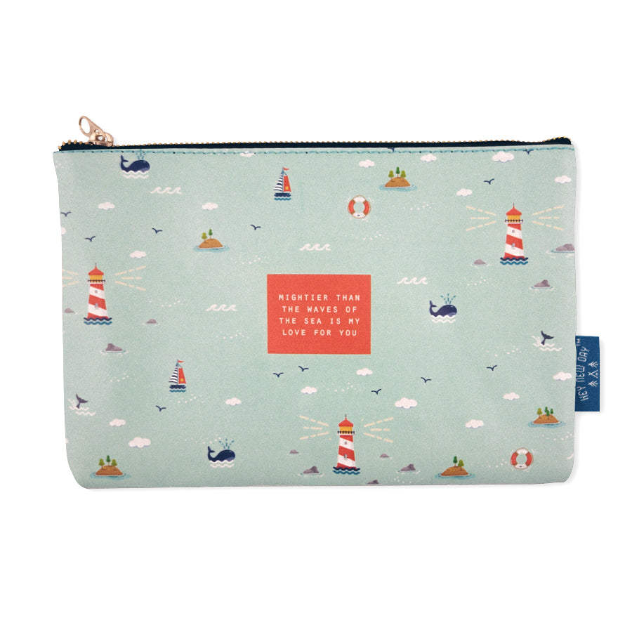 Mightier Than The Waves {Pouch}