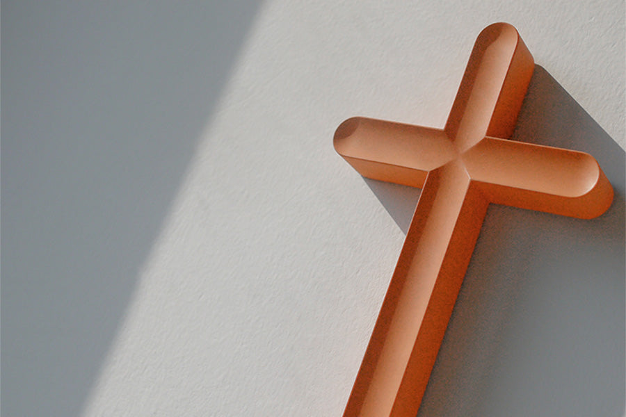 muji zen style religious cross gift by The Commandment Co