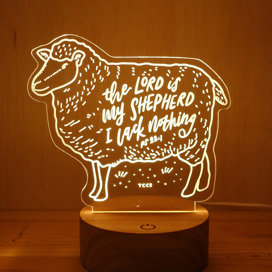 The Lord Is My Shepherd I Lack Nothing {Night Light}