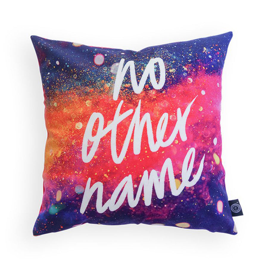 No other name cushion cover. Jesus is our only saviour