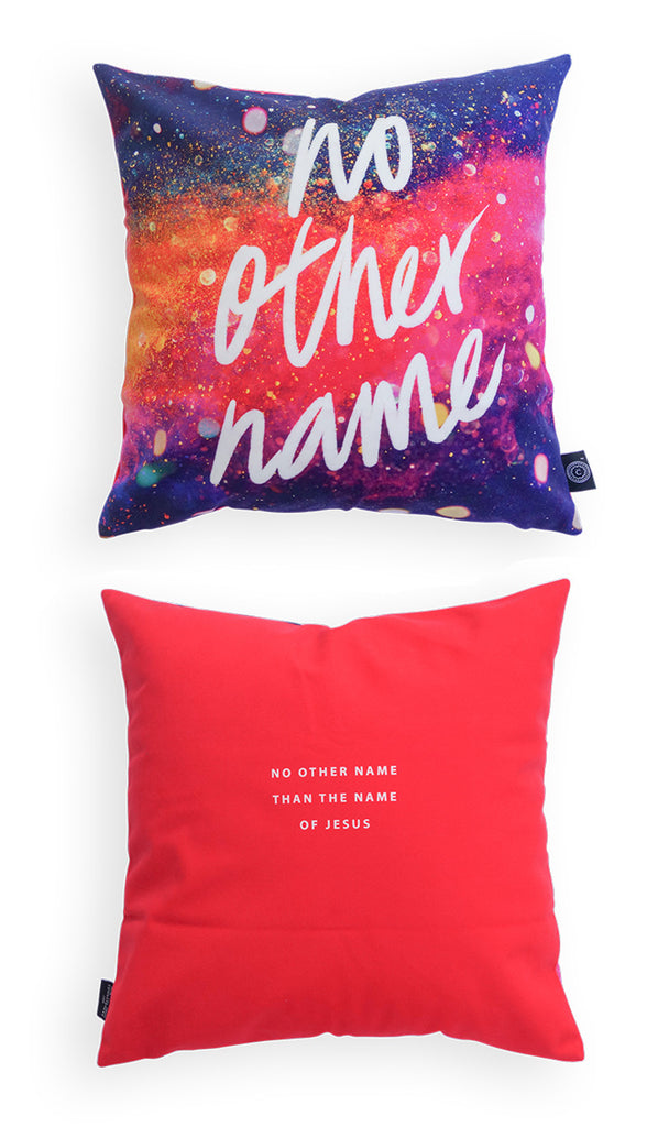 Comparison between front and back logo of cushion cover. Cushion covers can brighten up a room and sends positive messages throughout the day. Get one today!