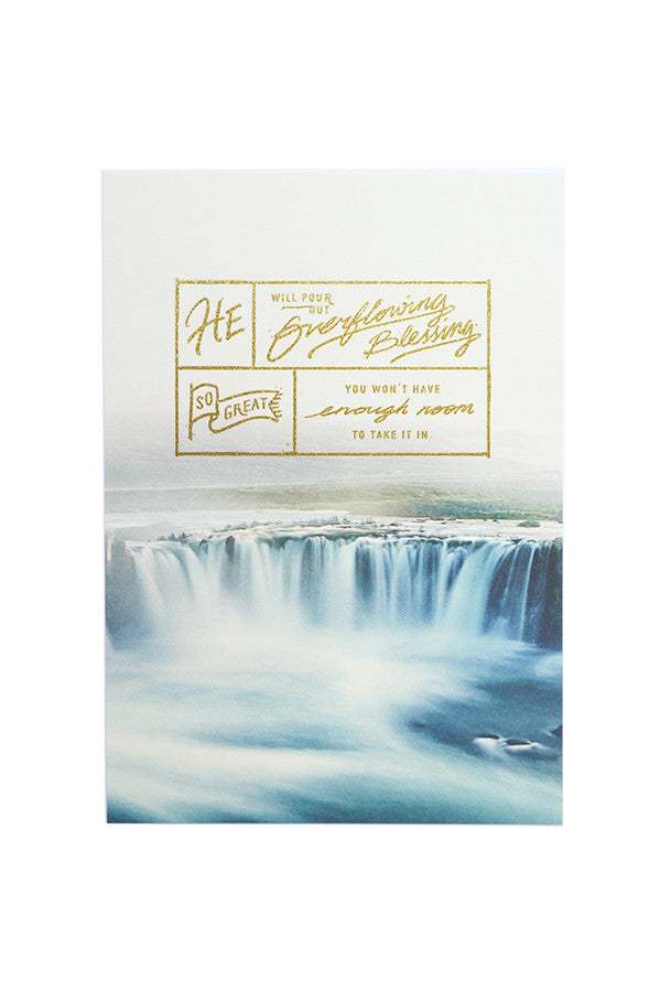 Overflowing blessing card christian greeting card the commandment co m4hsunfo