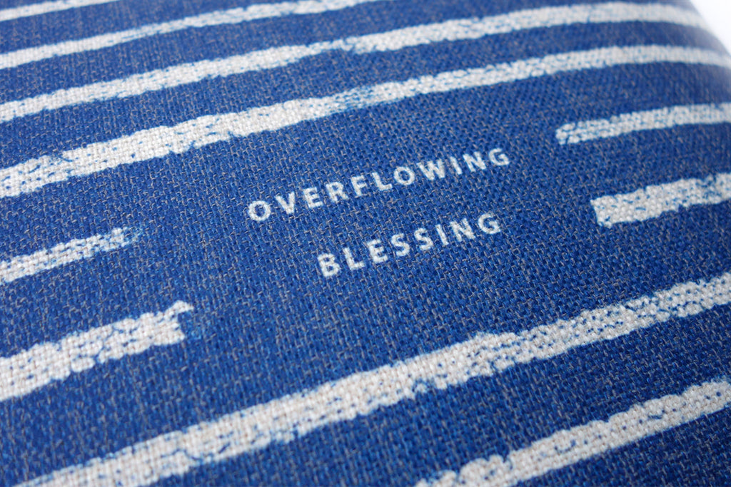 Overflowing Blessing {Cushion Cover}