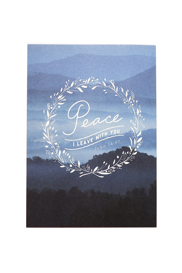 Peace I leave with you | encouragement and comforting bible greeting cards