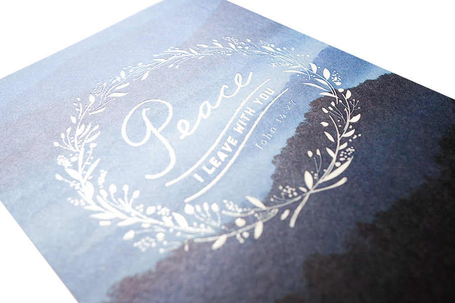 Christian verse greeting card (250GSM Maple Paper, Printed in Singapore) design: John 14:27