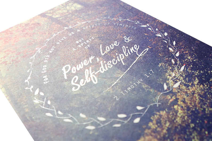 Power, Love & Self-discipline {Card}