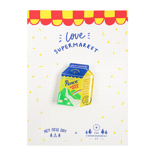 Peace Whole Milk Pin {LOVE SUPERMARKET}
