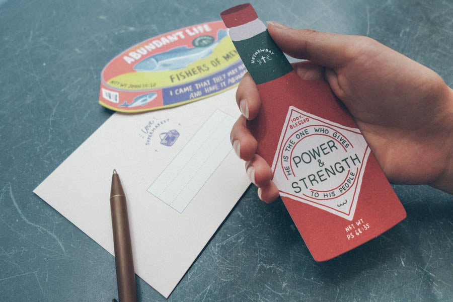 Power & Strength Chilli Sauce {LOVE SUPERMARKET Card}