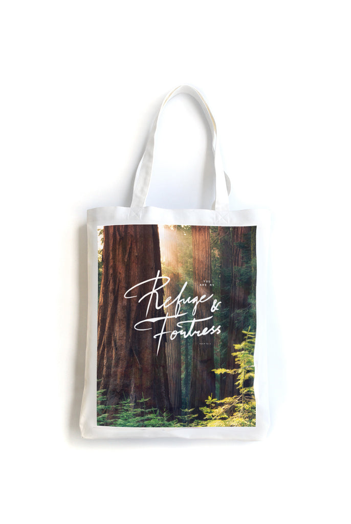 Refuge & Fortress {Organic Tote}
