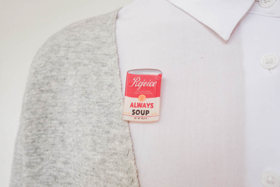 Rejoice Always Soup {LOVE SUPERMARKET Pins}