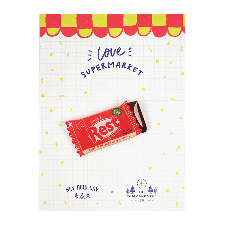 Rest Chocolate Bar {LOVE SUPERMARKET Pins}